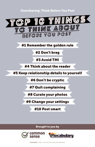 Oversharing: Think Before You Post Printables & Template