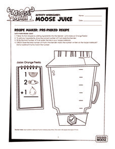 Moose Juice Worksheet