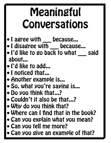 Meaningful Conversations Printables & Template for 1st
