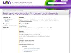 Fruit and Vegetable, Vitamins and Minerals Lesson Plan