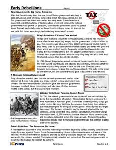 Early Rebellions Handouts & Reference