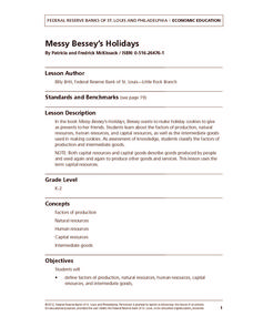 Messy Bessey's Holidays Lesson Plan