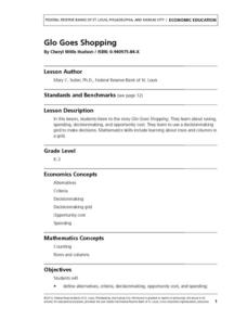 Glo Goes Shopping Lesson Plan