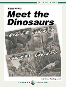 Meet the Dinosaurs Worksheet