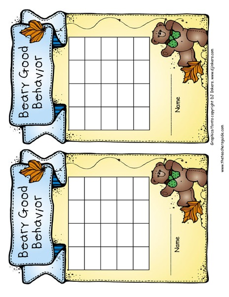 Incentive and Behavior Charts Printables & Template