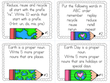 Earth Day Grammar Printables & Template