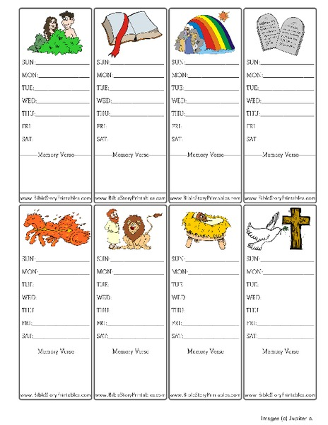 Sunday School Bookmarks Printables & Template