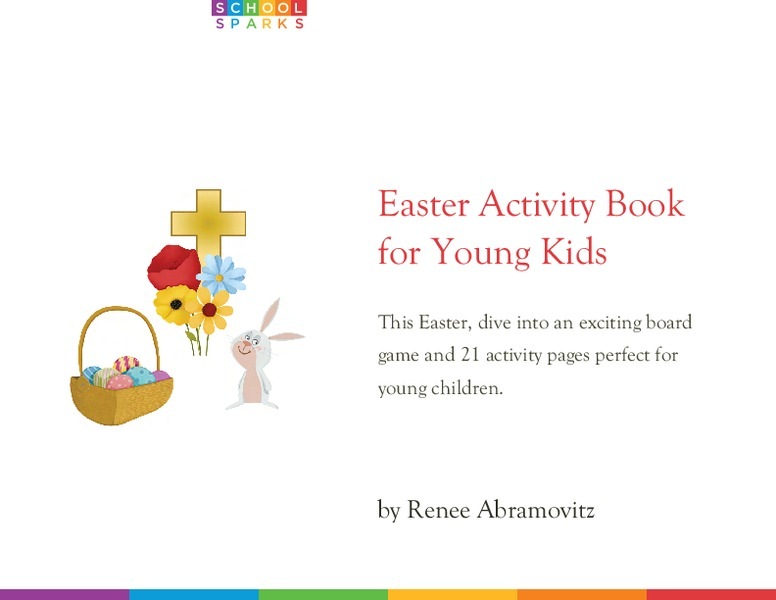 Easter Activity Book for Young Kids Worksheet