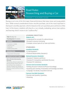 Road Rules: Researching and Buying a Car Lesson Plan