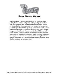 Past Tense Game Worksheet