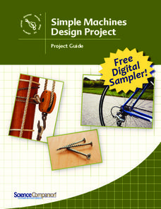 Simple Machines Design Project Activities & Project