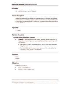 Wants on a Continuum Lesson Plan
