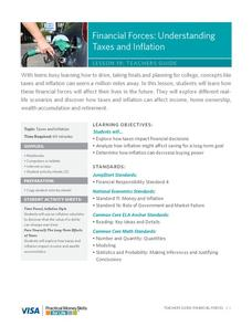 Financial Forces: Understanding Taxes and Inflation Lesson Plan