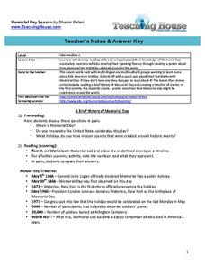 Memorial Day Lesson Lesson Plan