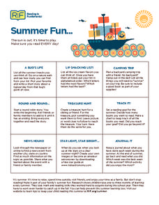 Summer Fun... Activities & Project