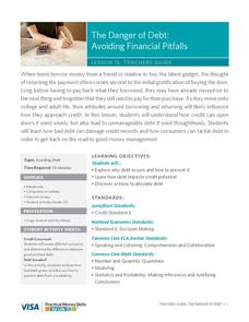 The Danger of Debt: Avoiding Financial Pitfalls Lesson Plan
