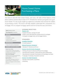 Home Sweet Home: Purchasing a Place Lesson Plan