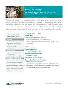 Savvy Spending: Sharpening Money Decisions Lesson Plan