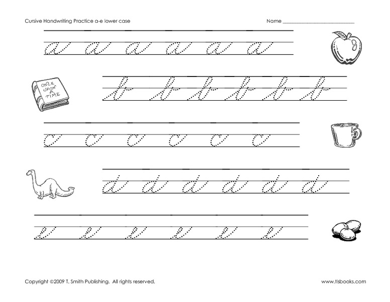 cursive handwriting practice worksheet for 2nd 5th grade lesson planet. Black Bedroom Furniture Sets. Home Design Ideas