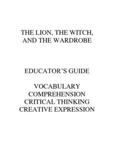 Educator's Guide to The Lion, The Witch and the Wardrobe #2 Unit