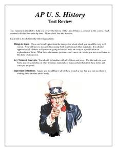 AP US History Test Review Handouts & Reference