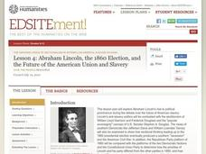 Abraham Lincoln, the 1860 Election, and the Future of the American Union and Slavery Lesson Plan