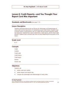 Credit Reports—and You Thought Your Report Card Was Important Lesson Plan