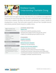 Kindness Counts: Understanding Charitable Giving Lesson Plan