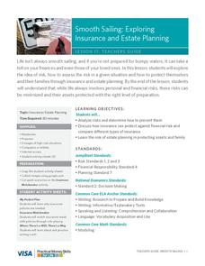 Smooth Sailing: Exploring Insurance and Estate Planning Lesson Plan