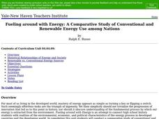 Fueling Around with Energy: A Comparative Study of Conventional and Renewable Energy Use Among Nations Lesson Plan