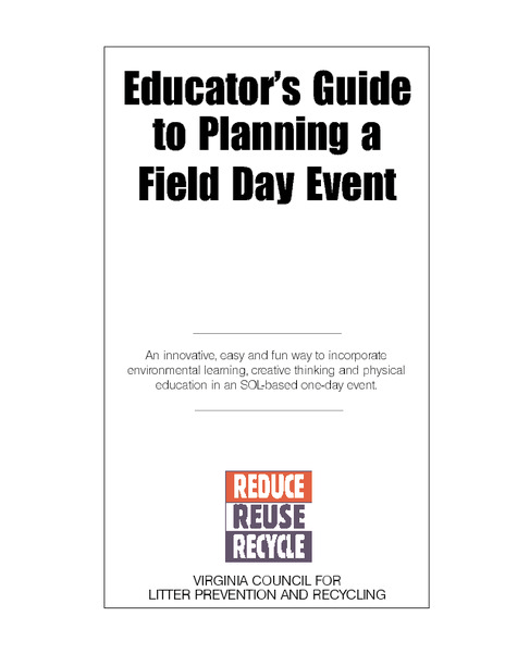 Educator's Guide to Planning a Field Day Event Lesson Plan