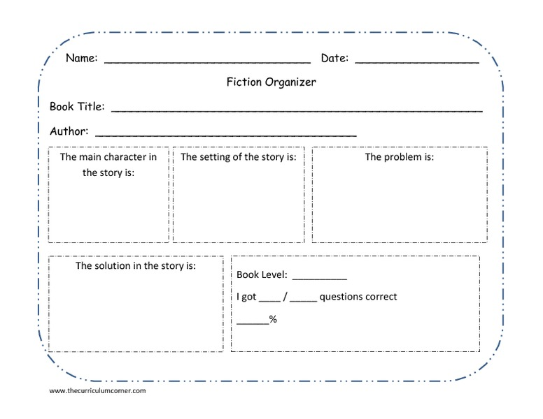 Fiction Organizer Graphic Organizer