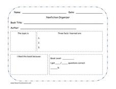Nonfiction Organizer Graphic Organizer