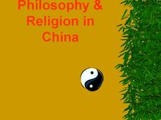 Philosophy & Religion in China Presentation