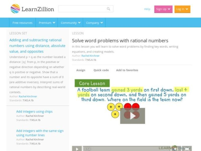 Solve Word Problems with Rational Numbers Video