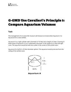 Use Cavalieri's Principle to Compare Aquarium Volumes Activities & Project