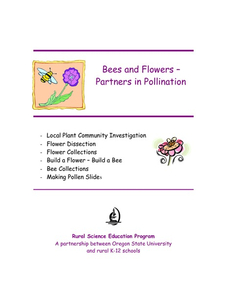 Bees and Flowers – Partners in Pollination Lesson Plan
