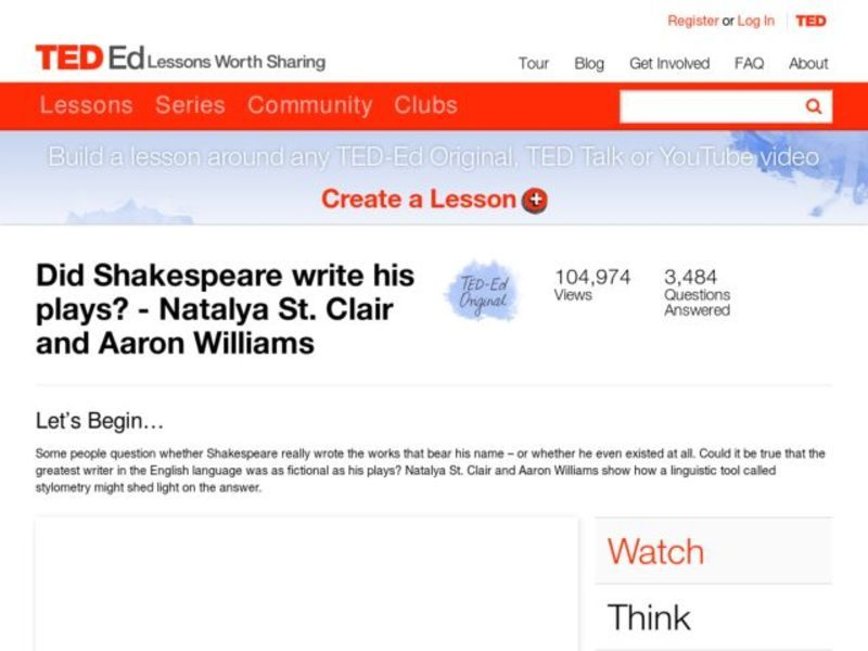 Did Shakespeare Write His Plays? Video