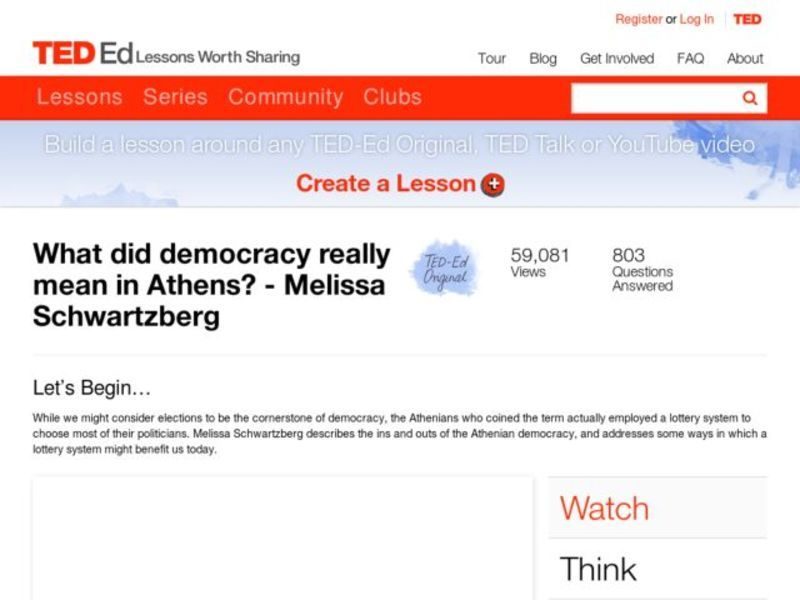 What Did Democracy Really Mean in Athens? Video