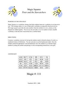 Peter and the Starcatchers: Magic Squares Lesson Plan