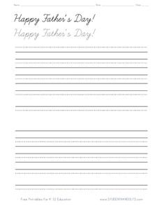 Happy Father's Day! Handwriting Practice Worksheet