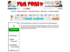 Fun Fonix: Do it. Say it. Write it in order. Worksheet