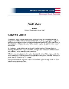 Fourth of July (Grades 3-5) Unit