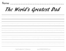 The World's Greatest Dad Writing Prompt