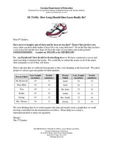 Task: How Long Should Shoe Laces Really Be? Worksheet