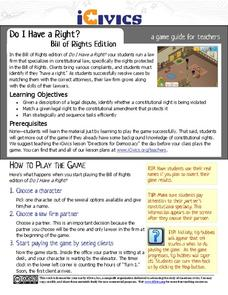 Do I Have a Right? Bill of Rights Edition Activities & Project