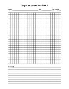 Blank Crossword or Word Search Puzzle Grid Printables & Template