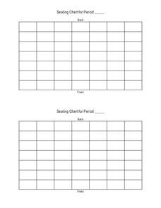 Clroom Seating Chart Template | Seating Chart Template For Classroom Yelom Digitalsite Co