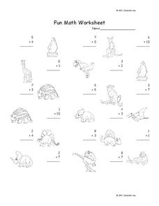 Fun Math Worksheet
