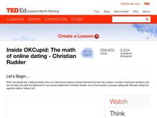 Inside OKCupid: The Math of Online Dating Lesson Plan